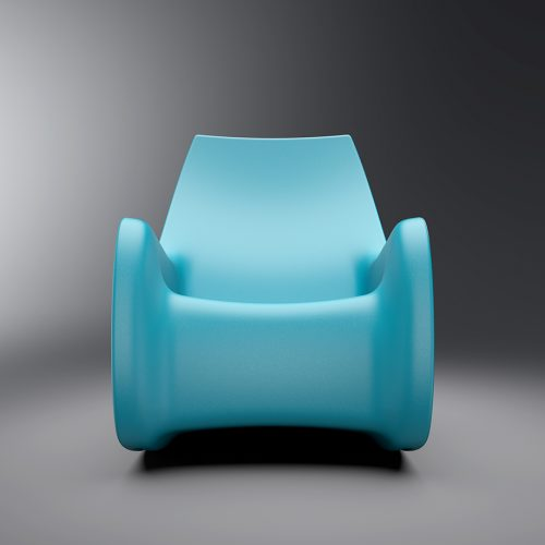 Front detail of the Cortech Radial Rocking Chair