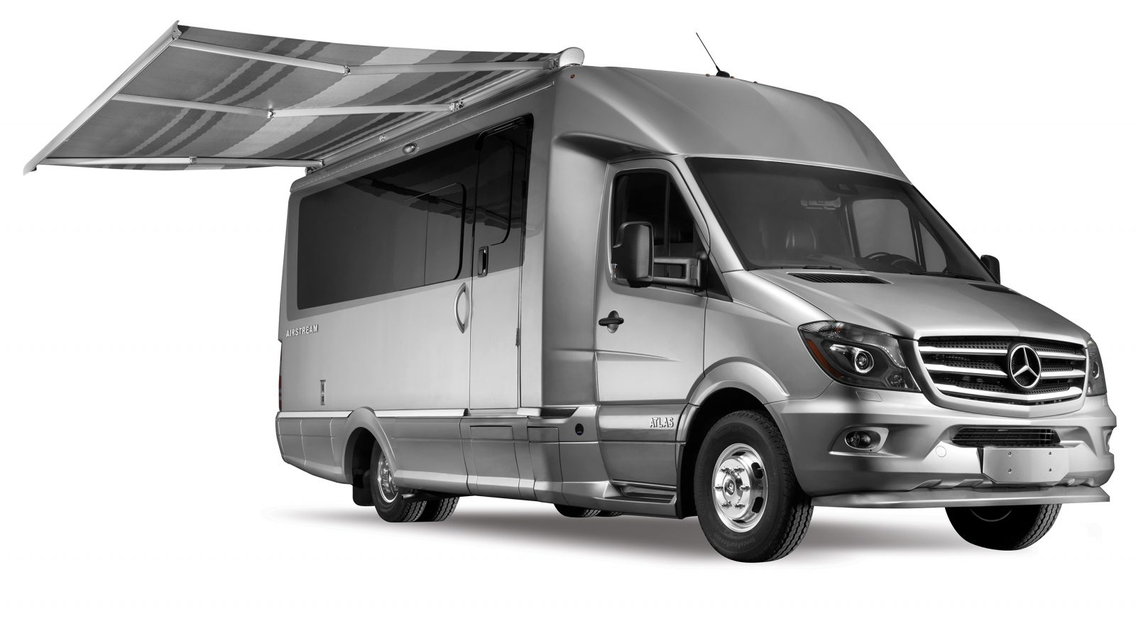 Airstream Atlas Touring Coach with awning recreation design