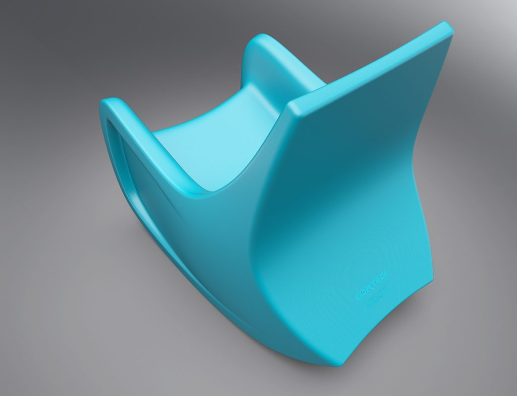 Rear detail of the Cortech Radial Rocking Chair