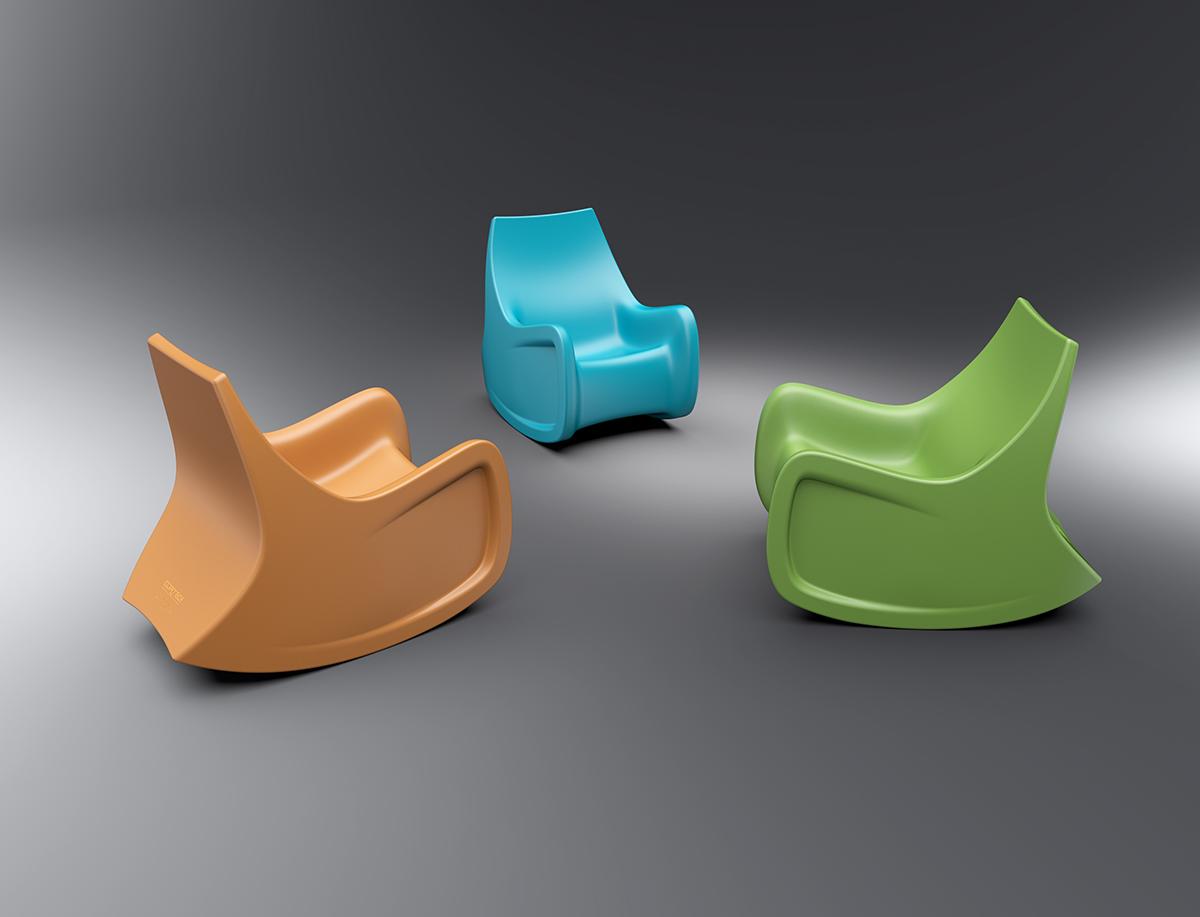 Cortech Radial Rocker Chair Colors Furniture Design