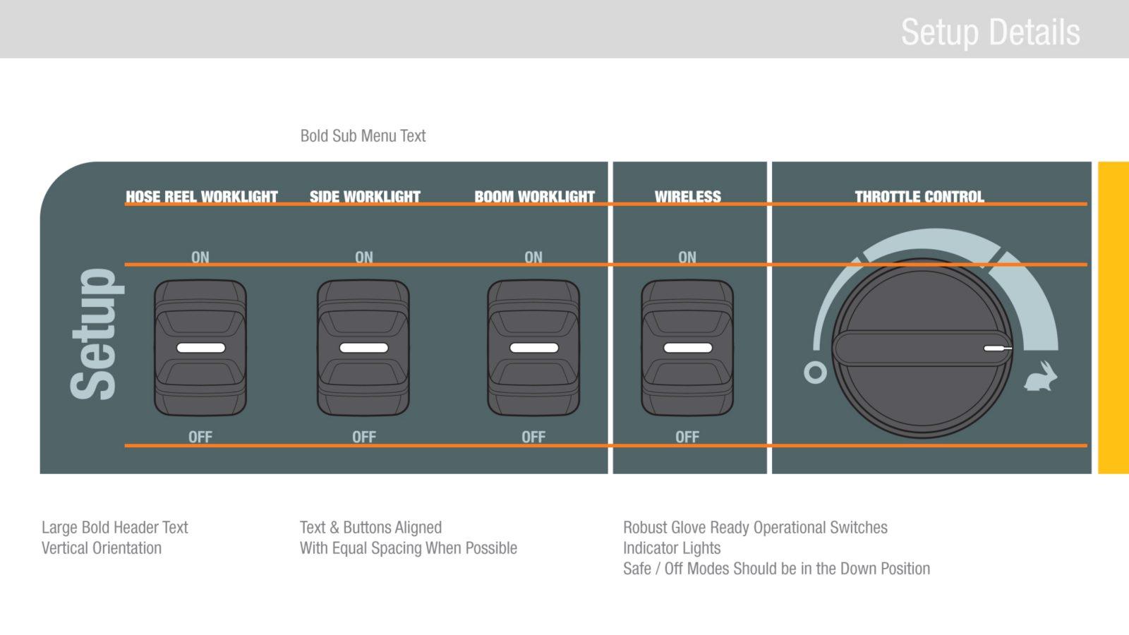 vactor control panel guidelines ui design