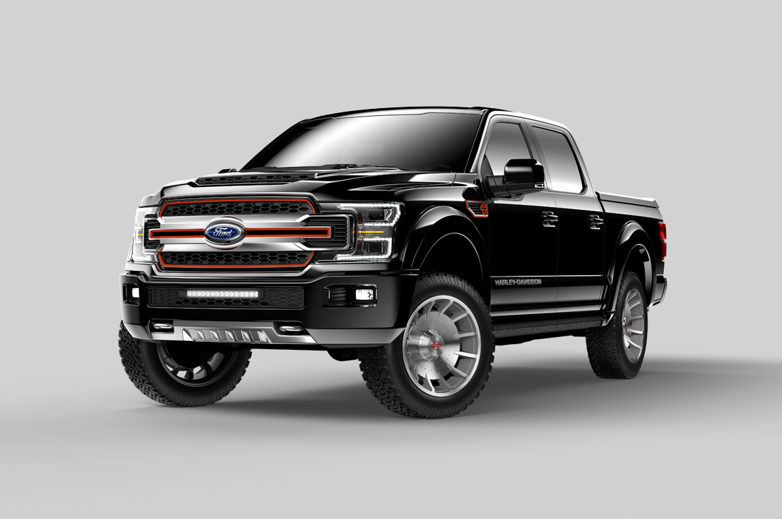 Harley Davidson Ford F150 Front View
