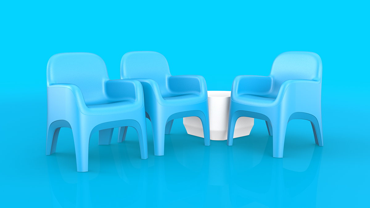 Cortech Crew Chair Blue